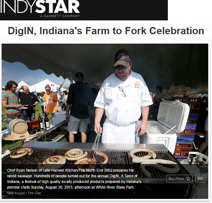 Chef Nelson at A Taste of Indiana festival